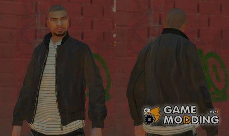 Коричневая кожаная куртка для GTA 4