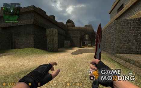 bloody knife with w_model for Counter-Strike Source