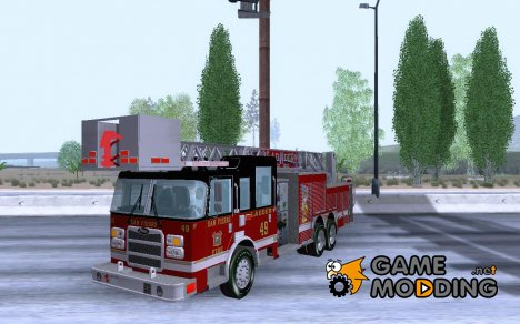 Pierce Rear Mount SFFD Ladder 49 для GTA San Andreas