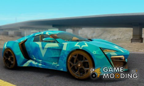 W-Motors Lykan Hypersport 2013 Blue Star for GTA San Andreas