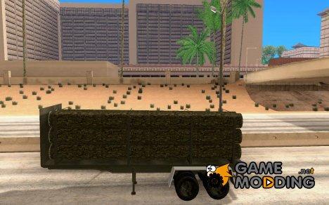 Прицеп лесовоз для тягачей for GTA San Andreas