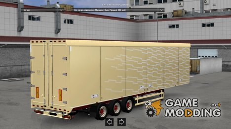 Trailer Volvo FH2013 pale yellow version for Euro Truck Simulator 2