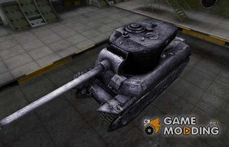Темный скин для M6A2E1 для World of Tanks