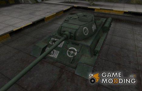 Зоны пробития контурные для T-34-1 для World of Tanks