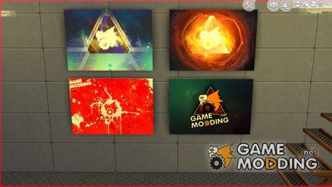 Картины с артами Gamemodding для Sims 4