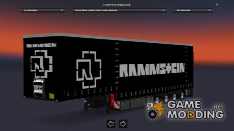 Rammstein Trailers Pack for Euro Truck Simulator 2