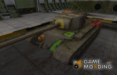 Зона пробития T32 for World of Tanks