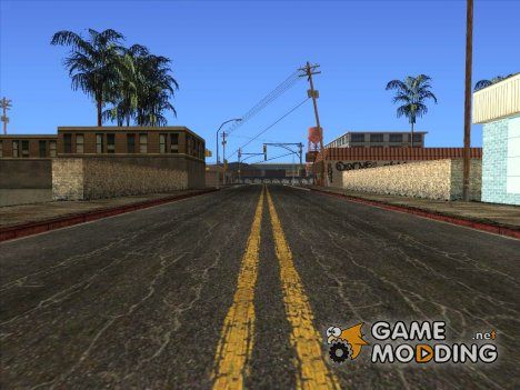 Новые улицы и тротуары в HD 2015 для GTA San Andreas
