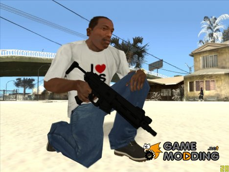 Чёрный MP5 for GTA San Andreas