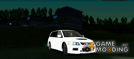 Mitsubishi Lancer Evolution IX Wagon MR Stock для GTA San Andreas