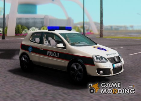 Golf V - BIH Police Car для GTA San Andreas