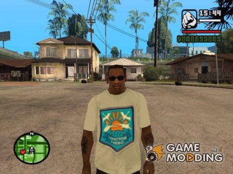 Футболка с логотипом Чистое небо for GTA San Andreas