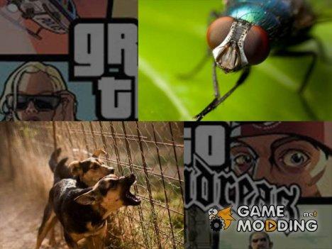 Жужание мух и лай собак для GTA San Andreas