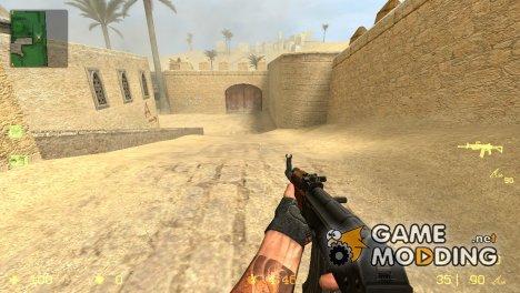АК-47 без приклада for Counter-Strike Source
