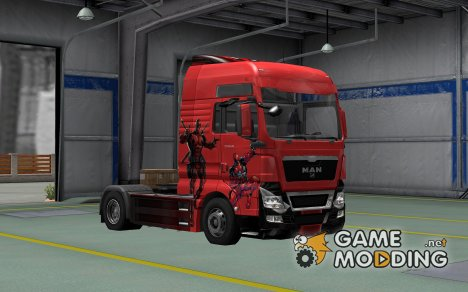 Скин Deadpool для MAN TGX for Euro Truck Simulator 2