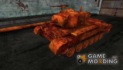Шкурка для M46 Patton в огне для World of Tanks