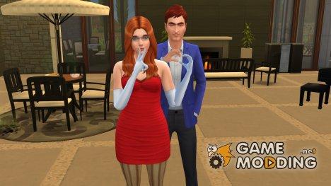 Позы Sweet Love for Sims 4
