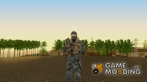 COD BO Russian Soldier Winter Balaclava для GTA San Andreas