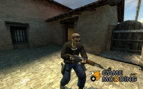 White Skin, Black And Denim Leet Reskin for Counter-Strike Source
