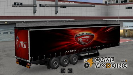 Msi Trailer for Euro Truck Simulator 2