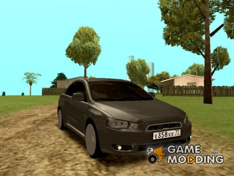 Mitsubishi Lancer X for GTA San Andreas