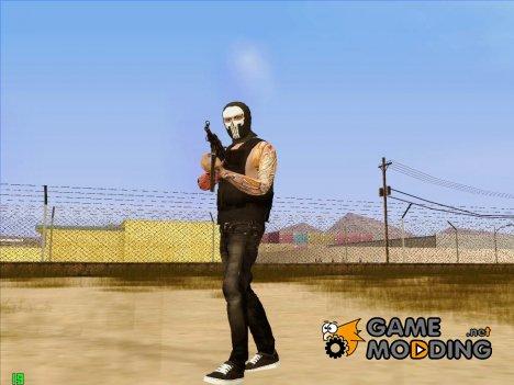 Парень в маске карателя из GTA Online для GTA San Andreas