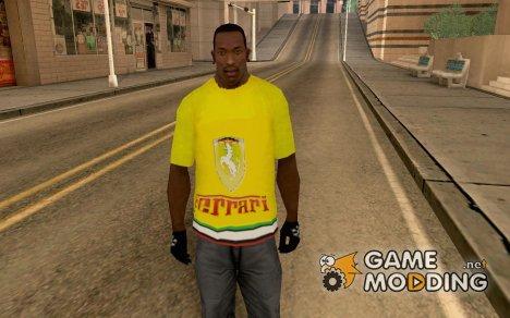 Футболка Феррари for GTA San Andreas
