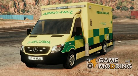 2014 British Mercedes Sprinter Ambulance для GTA 5