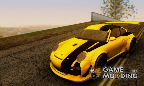 Porsche GT3 R 2009 Black-Yellow для GTA San Andreas
