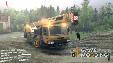 Мод КРАН Man Truck Titan for Spintires 2014