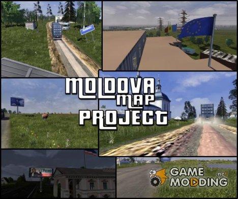 Карта Республики Молдавия v.0.1 для Euro Truck Simulator 2