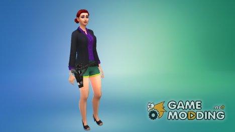 Ремень с пистолетом для Sims 4