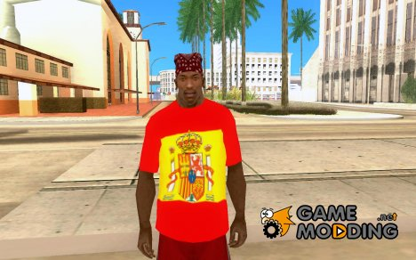 Футболка фаната сборной Испании по футболу for GTA San Andreas