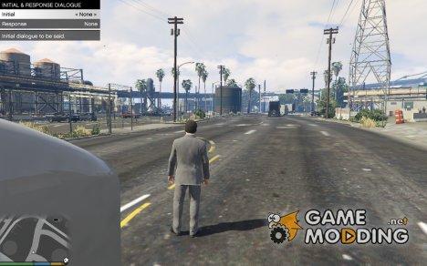 Initial and response dialogue menu для GTA 5