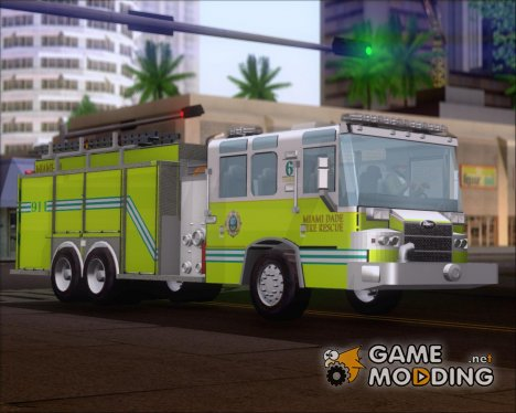 Pierce Quantum Miami Dade Fire Department Tanker 6 for GTA San Andreas