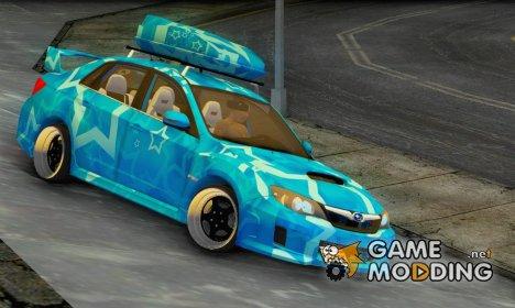 Subaru Impreza Blue Star for GTA San Andreas