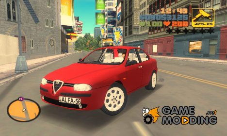Alfa Romeo 156 2.5 V6 for GTA 3