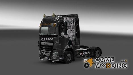 Скин для DAF XF Euro 6 Lion для Euro Truck Simulator 2