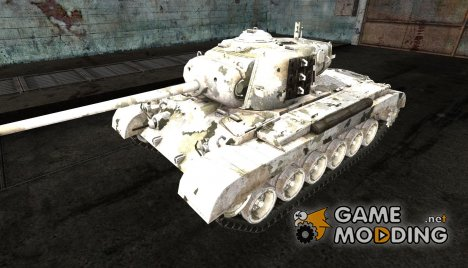 Шкурка для M26 Pershing Broken Arctic Ghost for World of Tanks