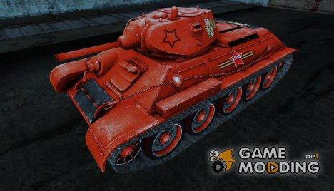 Т-34 (ко Дню Победы легендарный Т-34 в красном) for World of Tanks