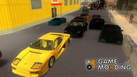 Пак машин Ferrari for GTA 3