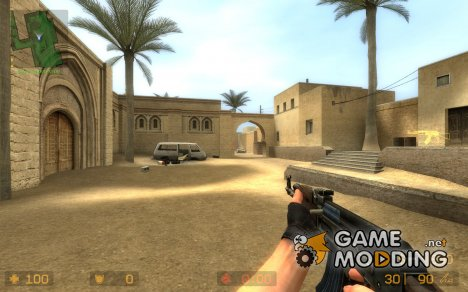 DarkWood AK with Bluish Mag для Counter-Strike Source