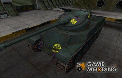 Контурные зоны пробития AMX 50 100 для World of Tanks