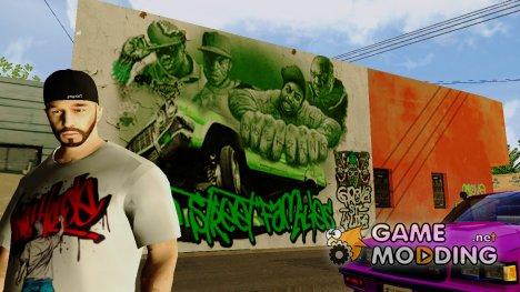 Grove Street 4 Life Wall для GTA San Andreas