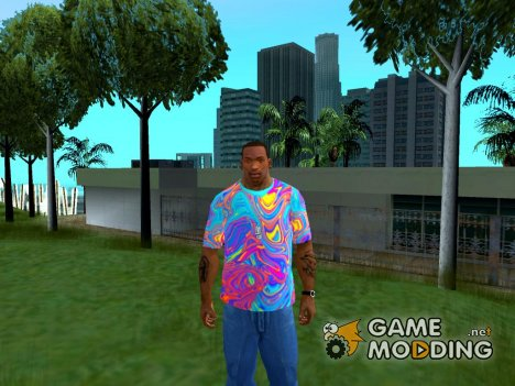 Футболка Психоделика для GTA San Andreas