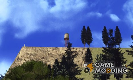 Новая вертолетная площадка и водонапорная башня for GTA San Andreas