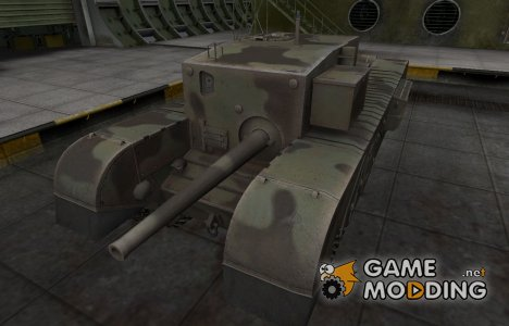 Пустынный скин для Churchill Gun Carrier для World of Tanks