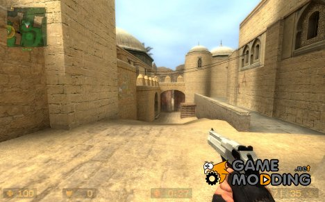 Chrome slide default deagle для Counter-Strike Source