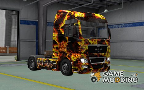 Скин Magma для MAN TGX for Euro Truck Simulator 2