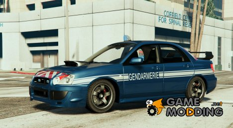 Subaru  WRX GENDARMERIE for GTA 5